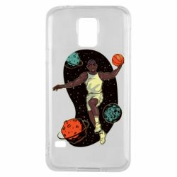 Чехол для Samsung S5 Basketball player and space