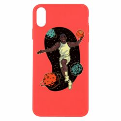 Чехол для iPhone Xs Max Basketball player and space