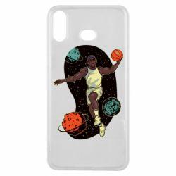 Чехол для Samsung A6s Basketball player and space