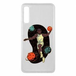 Чехол для Samsung A7 2018 Basketball player and space