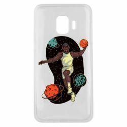 Чехол для Samsung J2 Core Basketball player and space