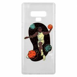 Чехол для Samsung Note 9 Basketball player and space