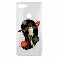 Чехол для Xiaomi Mi8 Lite Basketball player and space