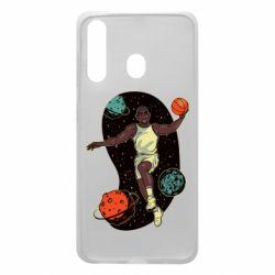 Чехол для Samsung A60 Basketball player and space
