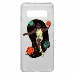 Чехол для Samsung S10+ Basketball player and space