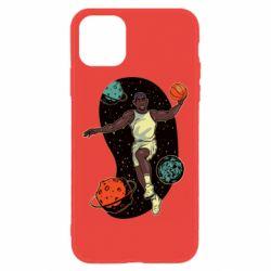 Чехол для iPhone 11 Basketball player and space