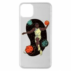 Чехол для iPhone 11 Pro Max Basketball player and space