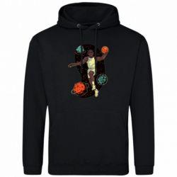 Мужская толстовка Basketball player and space