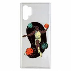 Чехол для Samsung Note 10 Plus Basketball player and space