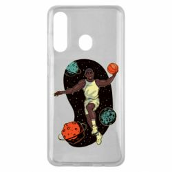 Чехол для Samsung M40 Basketball player and space