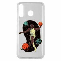 Чехол для Samsung M30 Basketball player and space