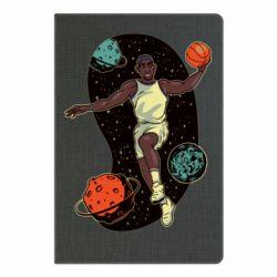 Блокнот А5 Basketball player and space