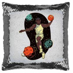 Подушка-хамелеон Basketball player and space