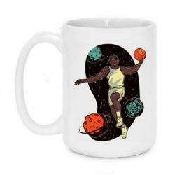 Кружка 420ml Basketball player and space
