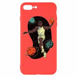 Чехол для iPhone 7 Plus Basketball player and space