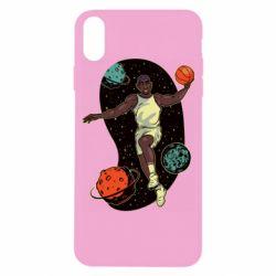 Чехол для iPhone X/Xs Basketball player and space