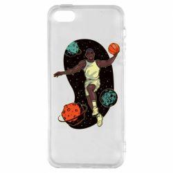 Чехол для iPhone5/5S/SE Basketball player and space