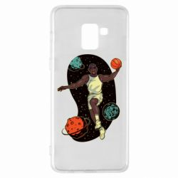 Чехол для Samsung A8+ 2018 Basketball player and space