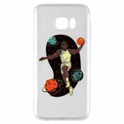 Чехол для Samsung S7 EDGE Basketball player and space