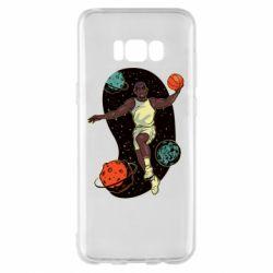Чехол для Samsung S8+ Basketball player and space