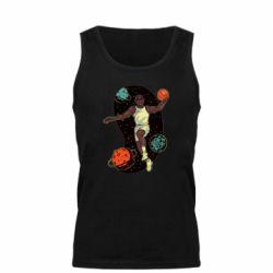 Мужская майка Basketball player and space