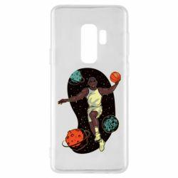 Чехол для Samsung S9+ Basketball player and space