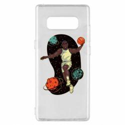 Чехол для Samsung Note 8 Basketball player and space