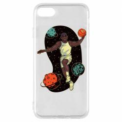 Чехол для iPhone 8 Basketball player and space