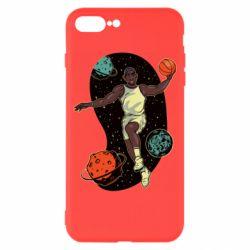 Чехол для iPhone 8 Plus Basketball player and space