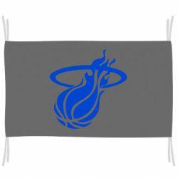Прапор Баскетбольний м'яч в кільця