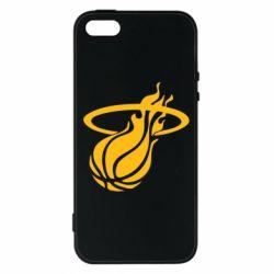 Чохол для iphone 5/5S/SE Баскетбольний м'яч в кільця