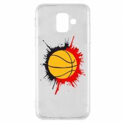 Чехол для Samsung A6 2018 Баскетбольный мяч - FatLine