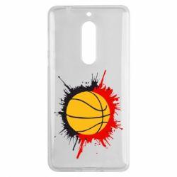 Чехол для Nokia 5 Баскетбольный мяч - FatLine