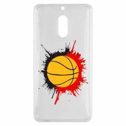 Чехол для Nokia 6 Баскетбольный мяч - FatLine