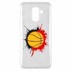 Чехол для Samsung A6+ 2018 Баскетбольный мяч - FatLine
