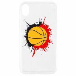 Чехол для iPhone XR Баскетбольный мяч - FatLine