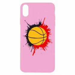 Чехол для iPhone Xs Max Баскетбольный мяч - FatLine