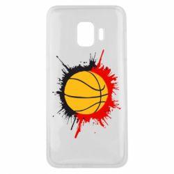 Чехол для Samsung J2 Core Баскетбольный мяч