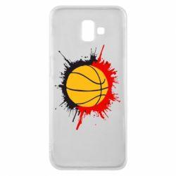 Чехол для Samsung J6 Plus 2018 Баскетбольный мяч - FatLine