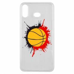 Чехол для Samsung A6s Баскетбольный мяч