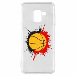 Чехол для Samsung A8 2018 Баскетбольный мяч - FatLine