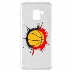 Чехол для Samsung A8+ 2018 Баскетбольный мяч - FatLine