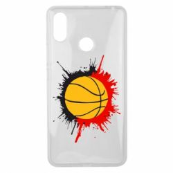 Чехол для Xiaomi Mi Max 3 Баскетбольный мяч - FatLine