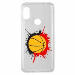 Чехол для Xiaomi Redmi Note 6 Pro Баскетбольный мяч - FatLine