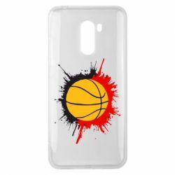 Чехол для Xiaomi Pocophone F1 Баскетбольный мяч - FatLine