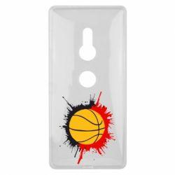 Чехол для Sony Xperia XZ2 Баскетбольный мяч - FatLine