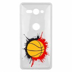 Чехол для Sony Xperia XZ2 Compact Баскетбольный мяч - FatLine