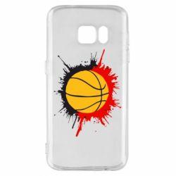 Чехол для Samsung S7 Баскетбольный мяч - FatLine