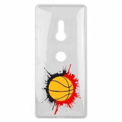 Чехол для Sony Xperia XZ3 Баскетбольный мяч - FatLine