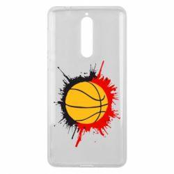 Чехол для Nokia 8 Баскетбольный мяч - FatLine